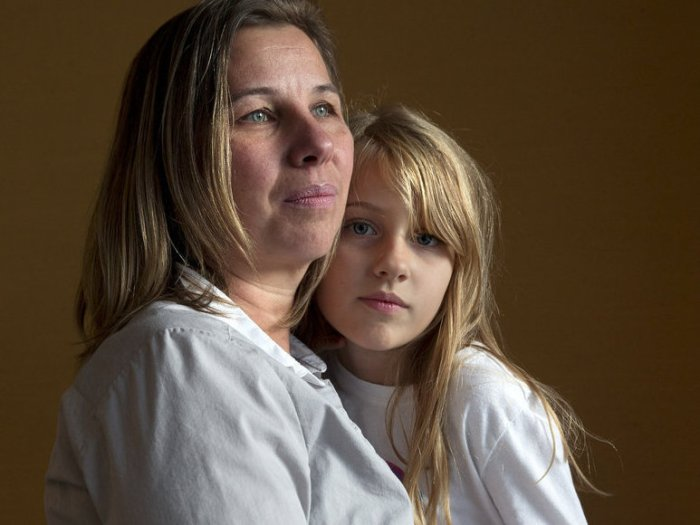 Peggy Young and her daughter
